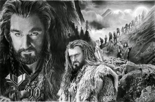 02-The-Hobbit-Thorin-Oakenshield-Richard-Armitage-Peter-Jackson-Jrr-Tolkien-Franco-Clooney-Francoclun-www-designstack-co