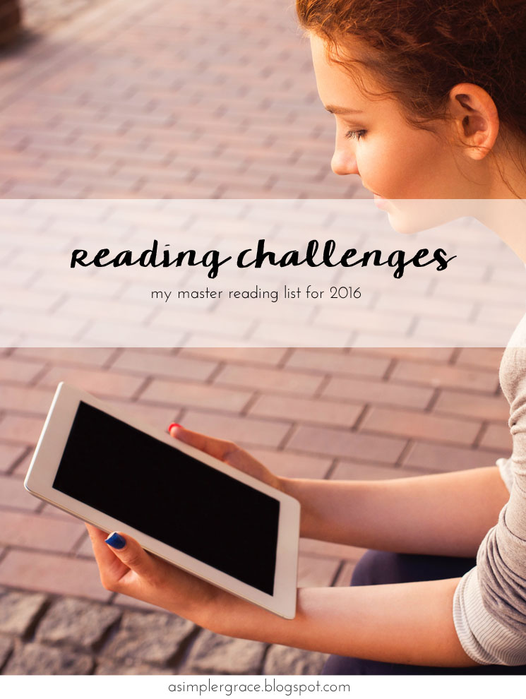 Reading Challenges for 2016 | The List - A Simpler Grace