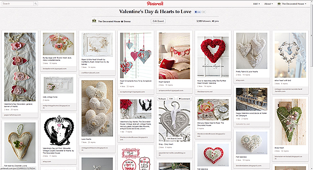 The Decorated House :: 101 Valentine's Day Ideas. Decorating. DIY. Decor