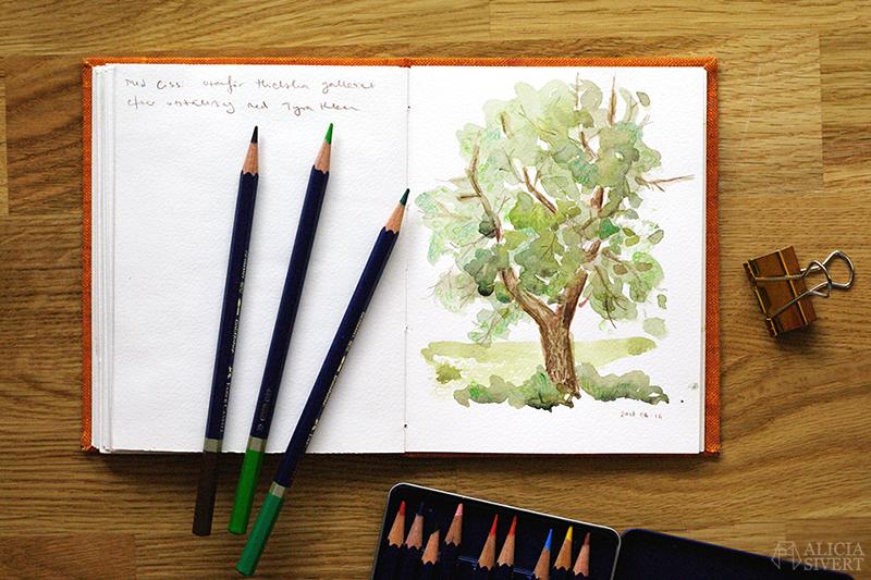Teckningsutmaningen i juni, foto av Alicia Sivertsson. aliciasivert teckning teckningar teckna rita skiss skissa skapa skapande utmaning kreativitet skaparutmaning bloggutmaning månadsutmaning kreativ penna pennor akvarellpenna akvarellpennor illustration träd