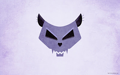 Cat skull violet grunge wallpaper