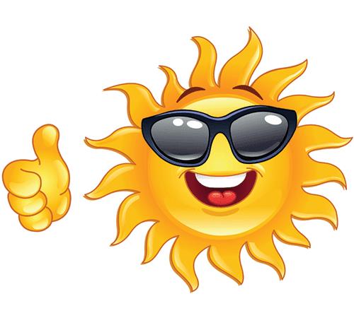 Smiling Sun Emoticon