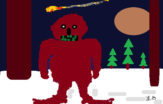 BIG FOOT SEES A FALLING STAR