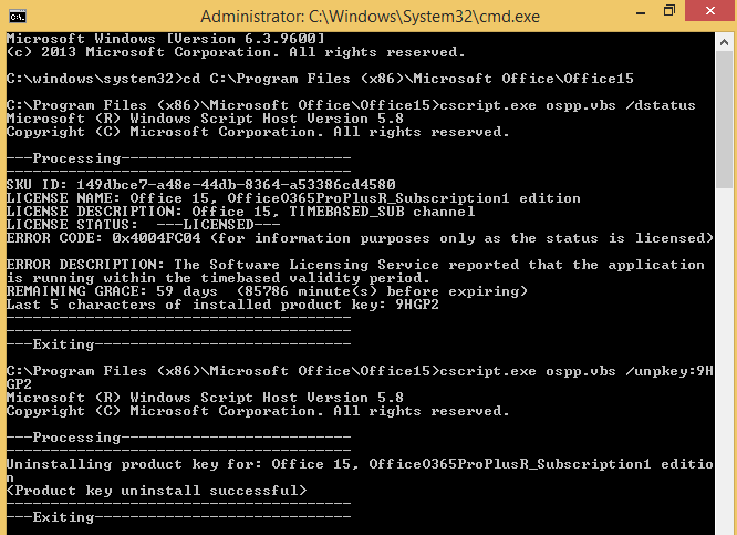 Microsoft office 365 activation error | Office 365 Reports in the