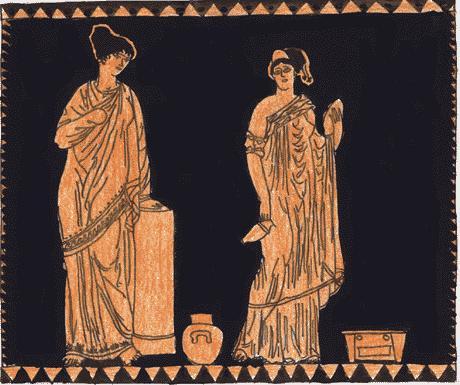 www.fertilmente.com.br - Mulheres Espartanas em gravura em cerâmica