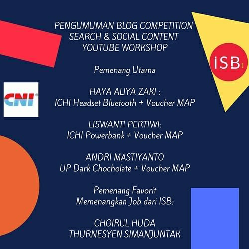 Pemenang 1 lomba blog youtube optimization
