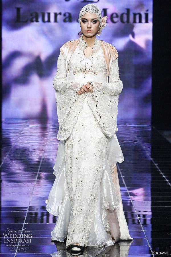 1a0e97bdb09eb أزياء محجبات   صور فساتين زفاف عصرية للمحجبات
