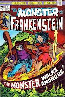 Frankenstein v2 #5 marvel comic book cover art by Mike Ploog