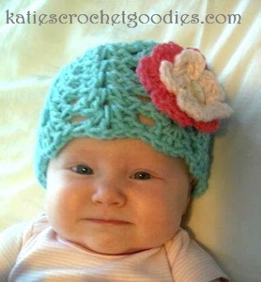 shell stitch flower hat