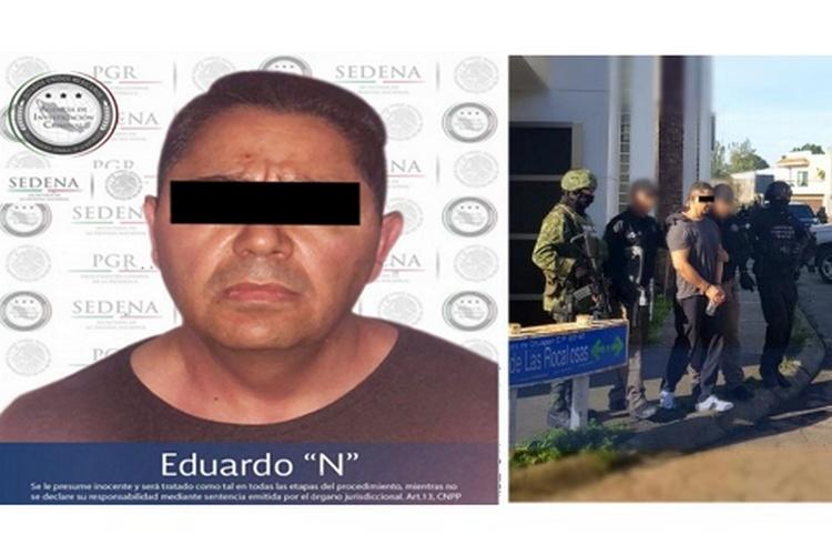 """Detienen a """"El Tablas"""", uno de los 10 más buscados por FBI, integrante de """"Barrio Azteca"""" brazo armado del CDJ."""
