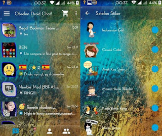 Download BBM Mod Droid Chat! v5.7.28 Tema Transparan