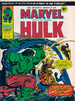 Mighty World of Marvel #167, Hulk vs Fantastic Four