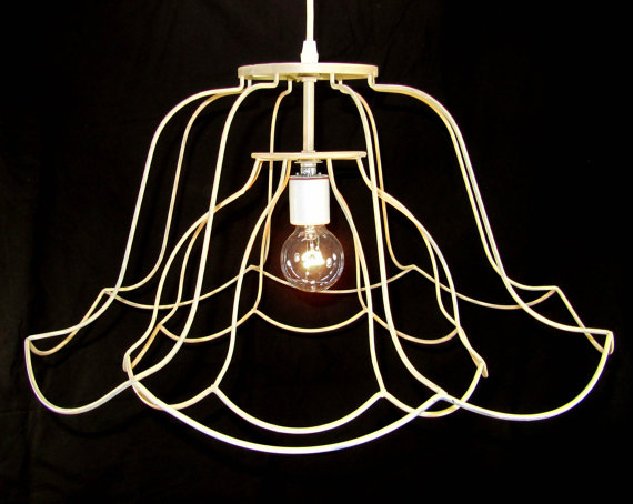 Jenn Ski: Wire lamp shades