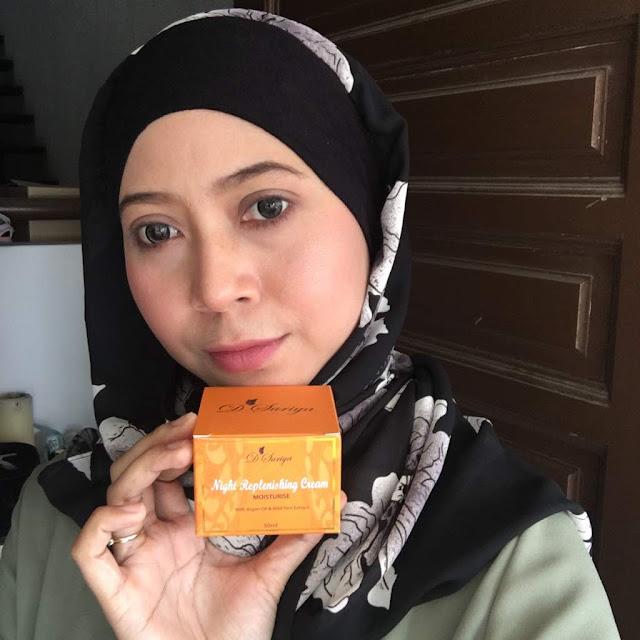 Night Replenishing  Cream Moisturise D'Suriya Dengan Argan Oil Dan Ekstrak Wild Yam