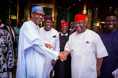 President Buhari receives South East Group for Change led by Senator Ken Nnamani