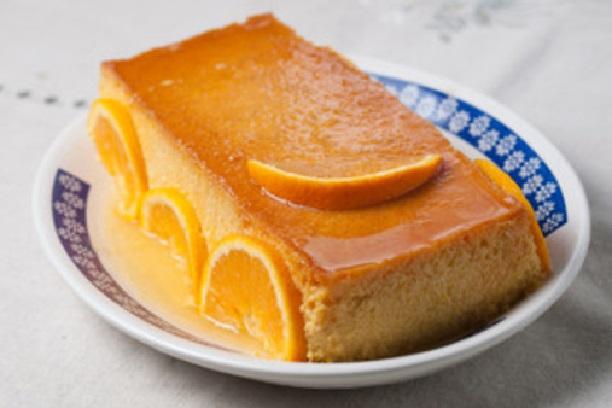 Flan de naranja en microondas