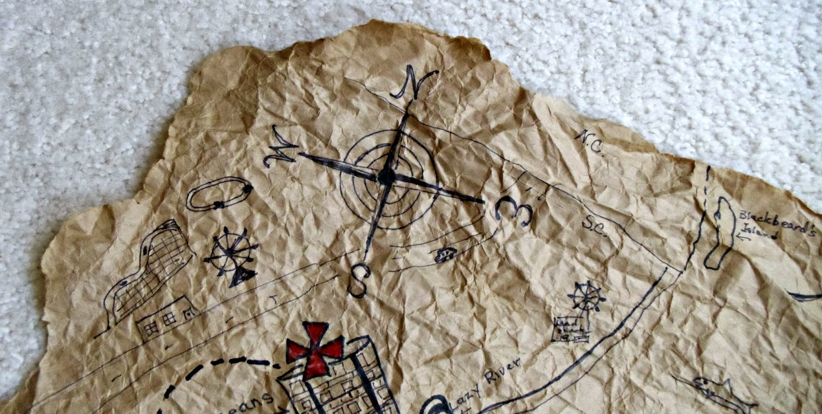 Upstairs Downstairs How To Make A Pirate S Treasure Chest And Map