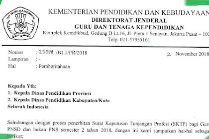 Surat Edaran Tentang Penerbitan SKTP Semester 2 Tahun 2018