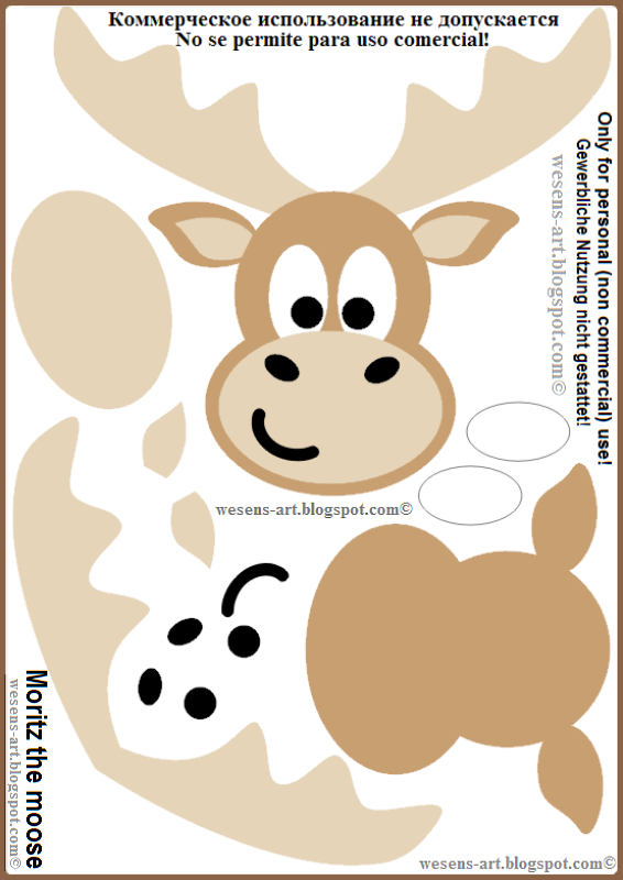 Moritz the moose template  wesens-art.blogspot.com