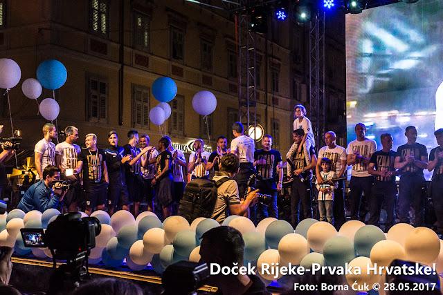Doček HNK Rijeka na Korzu @ 28.05.2017