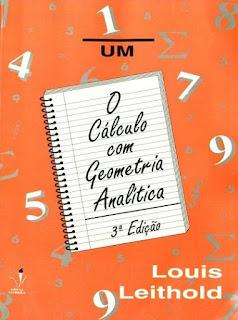livro Calculo com Geometria analitica 1 Louis Leithold