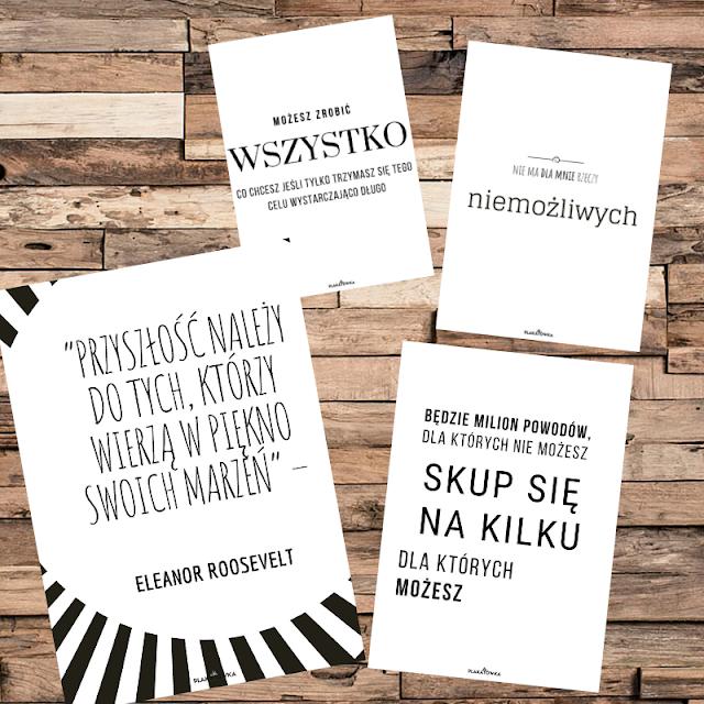 darmowe plakaty motywacyjne z cytatami do pobrania i wydruku