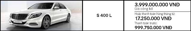 Giá xe Mercedes S450 L 2018 tại Mercedes Trường Chinh