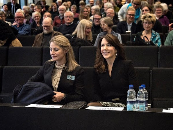 Crown Princess Mary attended the opening conference of Brain Awareness Week that held at the Copenhagen University