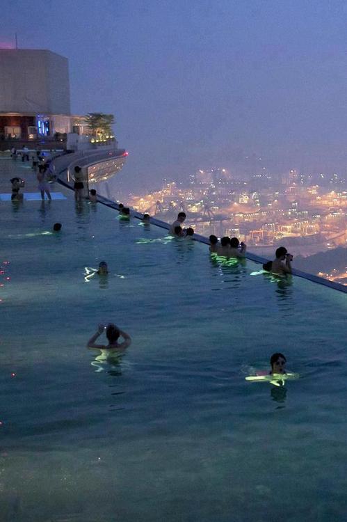 Marina bay sands sky park singapore infinity pool 55 - Hotel singapore swimming pool on roof ...