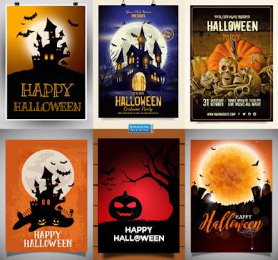 6-mau-ap-phich-do-hoa-kinh-di-le-hoi-ma-quai-halloween-poster-vector-7934