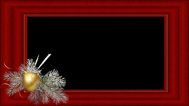 Natal - Moldura vermelha Dupla FHD