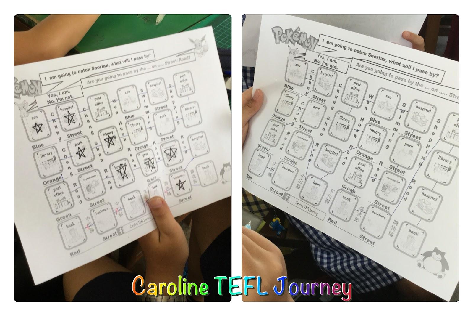Caroline Tefl Journey Asking Directions Information Gap