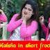 Malsha Salani in short frock