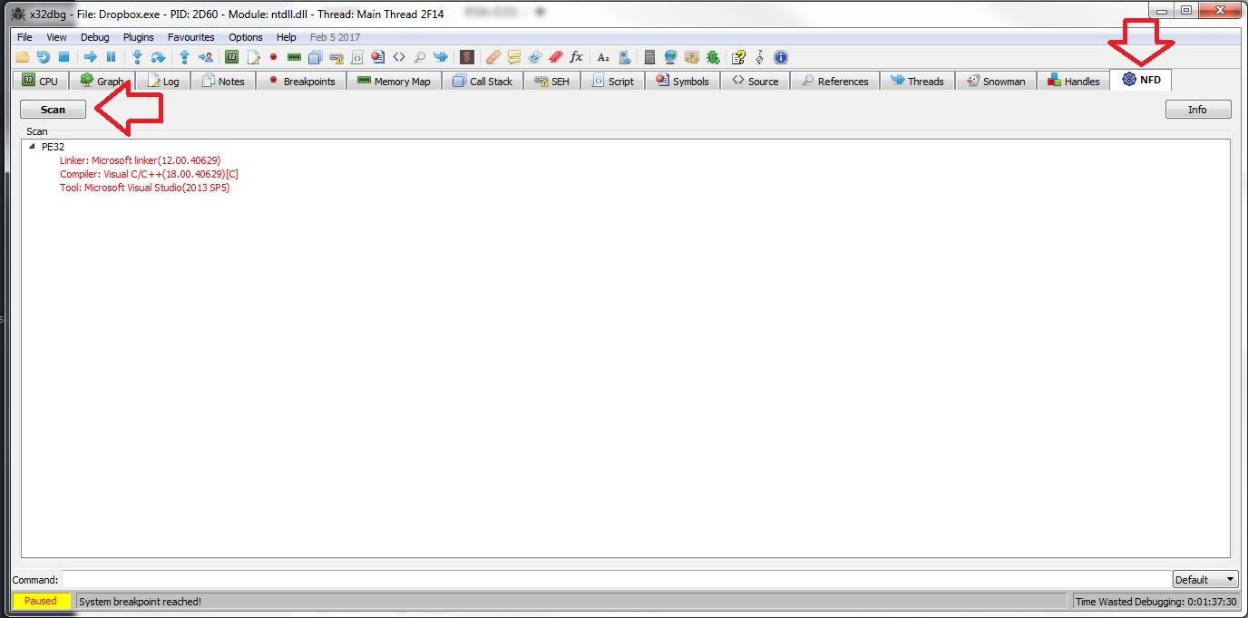 NFD - plugin for x64dbg | NTinfo