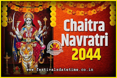 2044 Chaitra Navratri Pooja Date and Time, 2044 Navratri Calendar