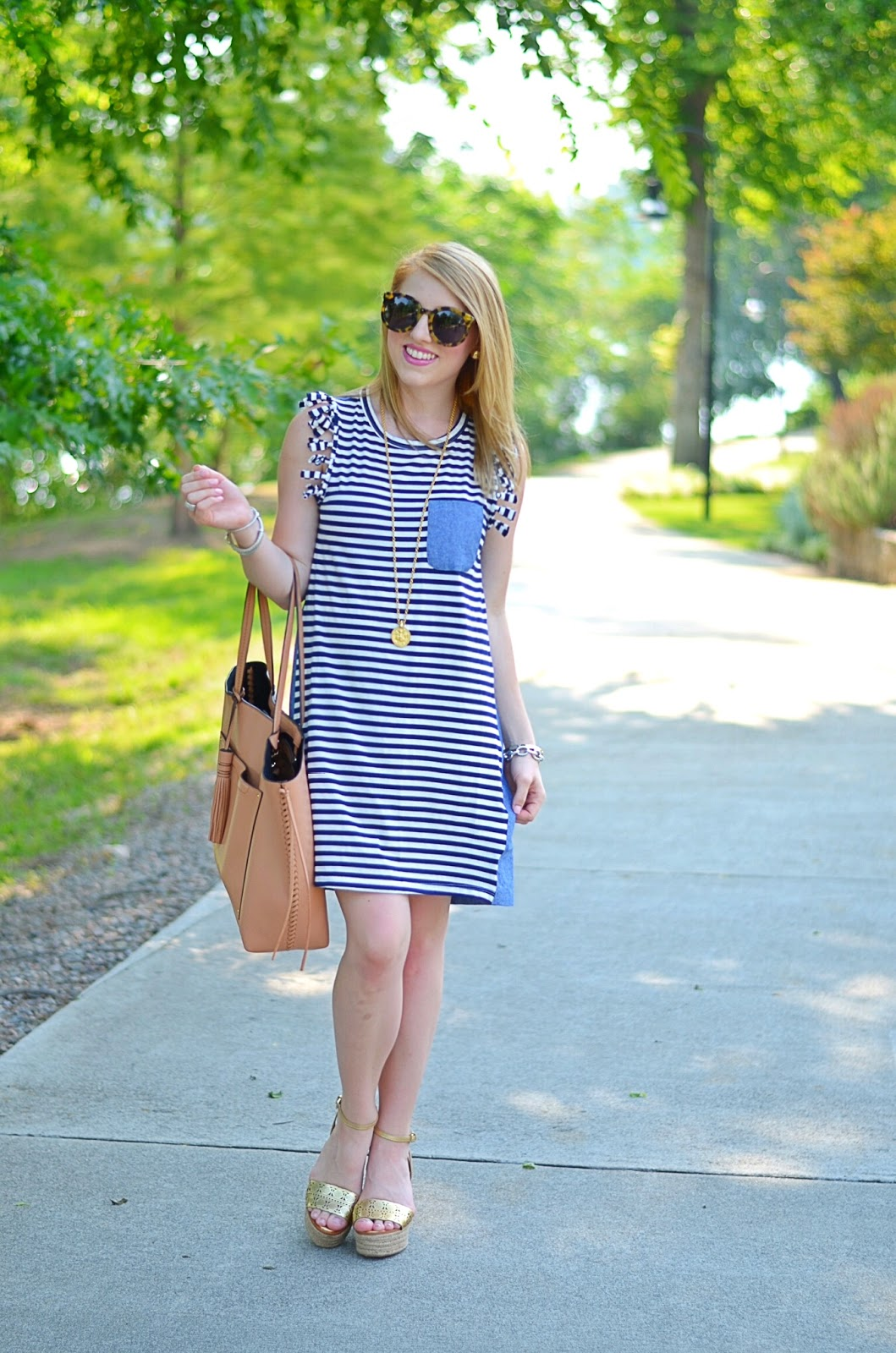 Chambray Pocket Dress