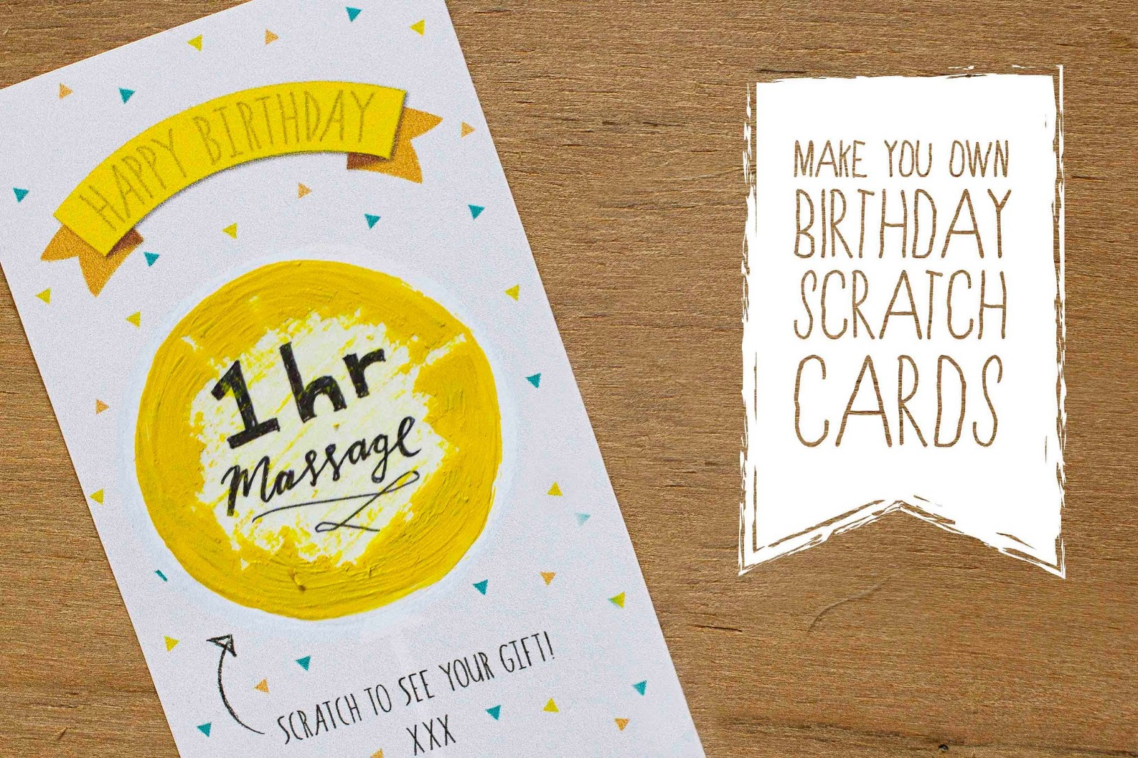 Birthday Scratch Card Diy on Garden Free Printables
