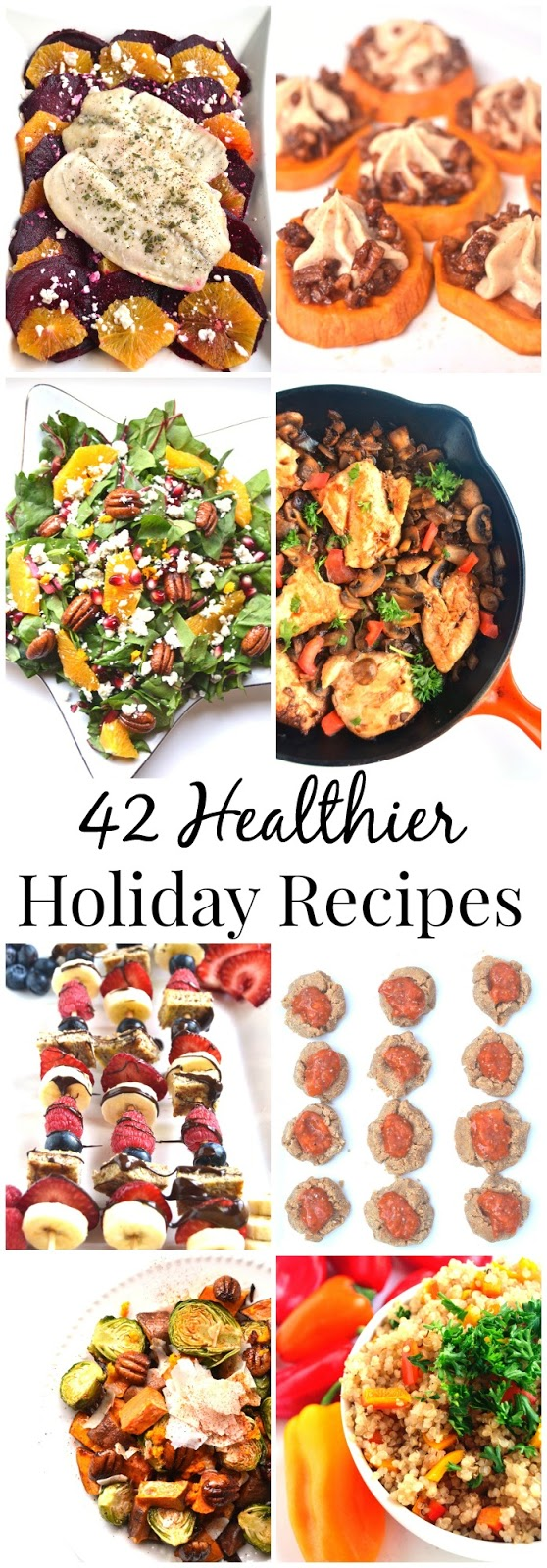 Make these healthier holiday recipes this holiday season for breakfasts, appetizers, desserts, sides and entrees that are sure to please your guests!