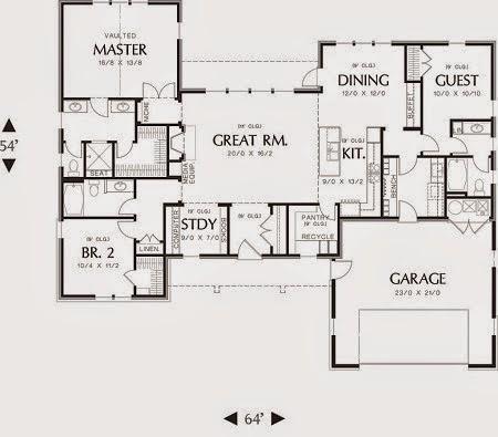 desain rumah minimalis 1 lantai 4 kamar tidur - gambar