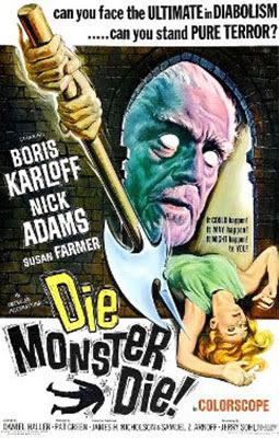 Die monster Die, 1965, Boris Karloff en el universo de H.P. Lovecraft
