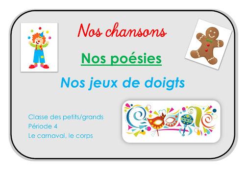 Répertoire Chants et poésies PS-GS maternelle période 4