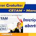 Cursos gratuitos no Cetam