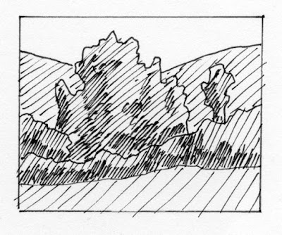 art sketch pen ink landscape minimalist nature
