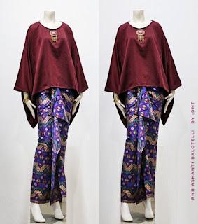 gambar model baju batik setelan rok panjang