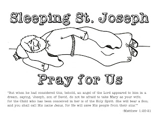 Look to him and be radiant sleeping st joseph for St joseph coloring page