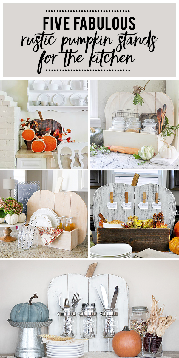 Check out this post to see five fabulous Rustic Pumpkin Stands for the Kitchen.  Created in collaboration with The Home Depot. |  www.andersonandgrant.com