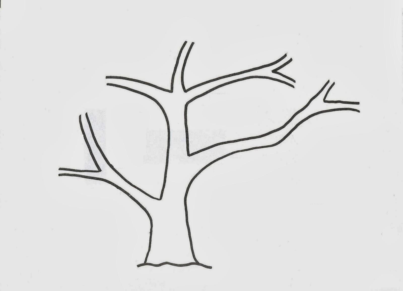 Dibujos Infantiles Árbol En Otoño Para Colorear: Manualidades Con Mis Hijas: Árbol De Otoño Y Sus Hojas