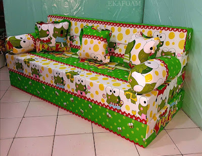 Sofa bed inoac motif NEW keroppy