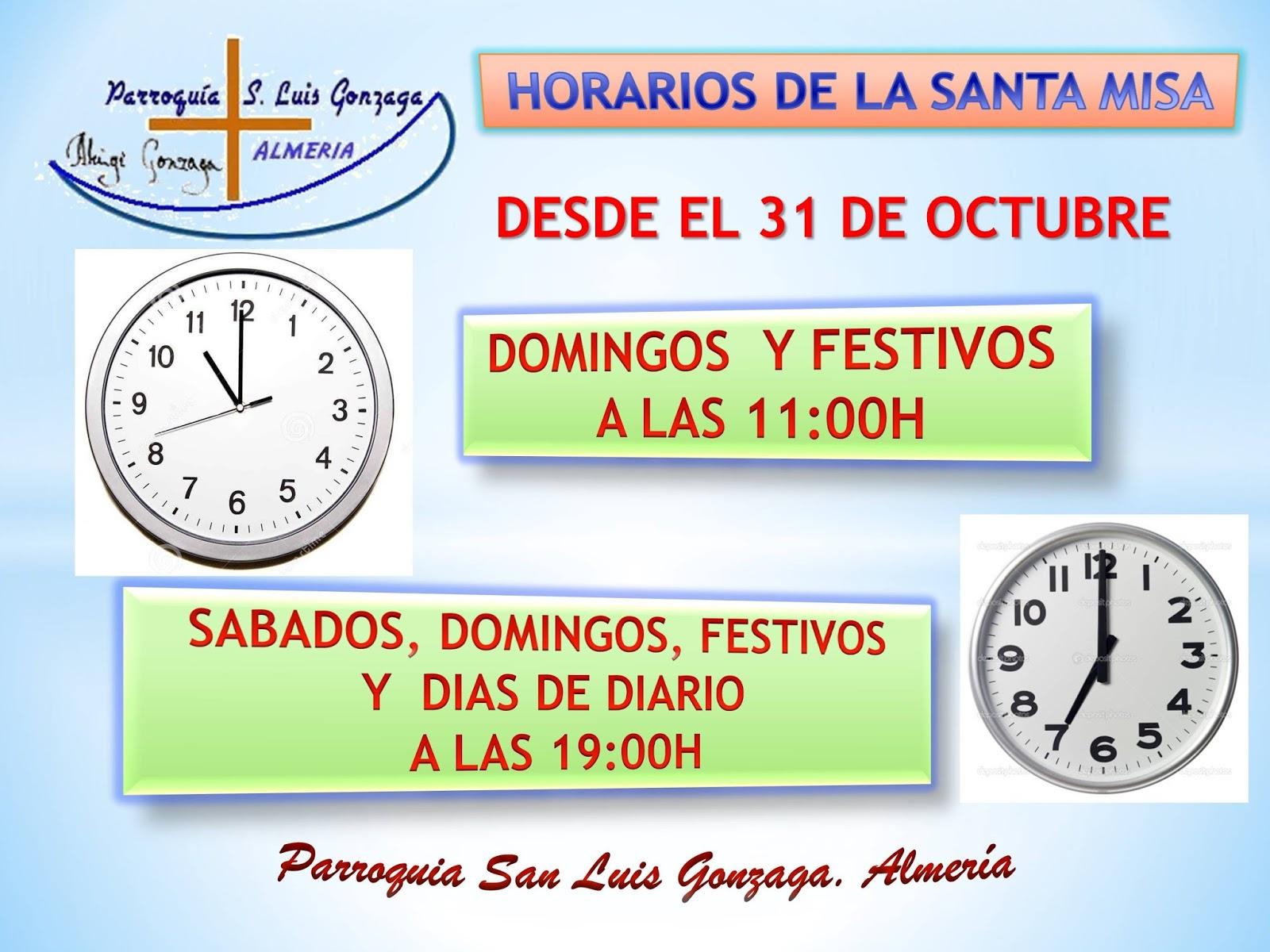 Parroquia De San Luis Gonzaga Almería Cambio De Horario