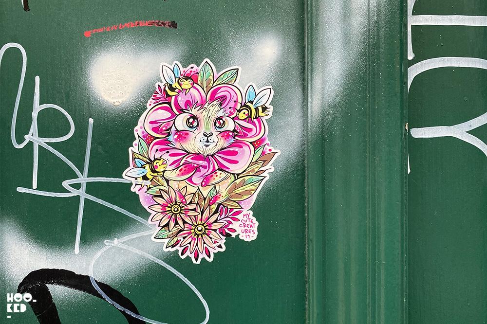 Shoreditch Street Art Stickers My Cute Creatures 04